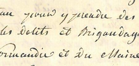 Déposition du marquis de Frotté  sur le pillage du château de Couterne